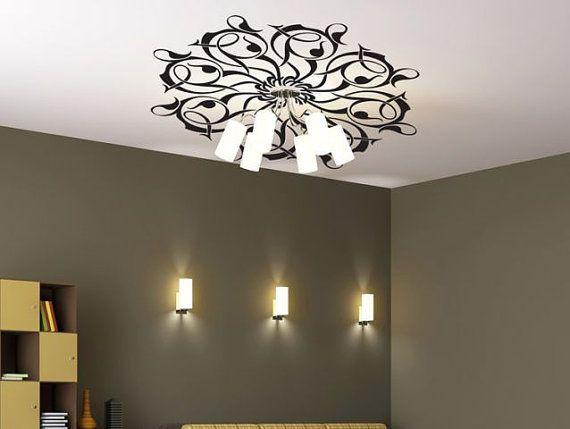 Plafond decal zwart rozet, slaapkamer stickers woonkamer sticker, muur stickers, vinyl stickers, vinyl sticker, muur muurschildering decal,