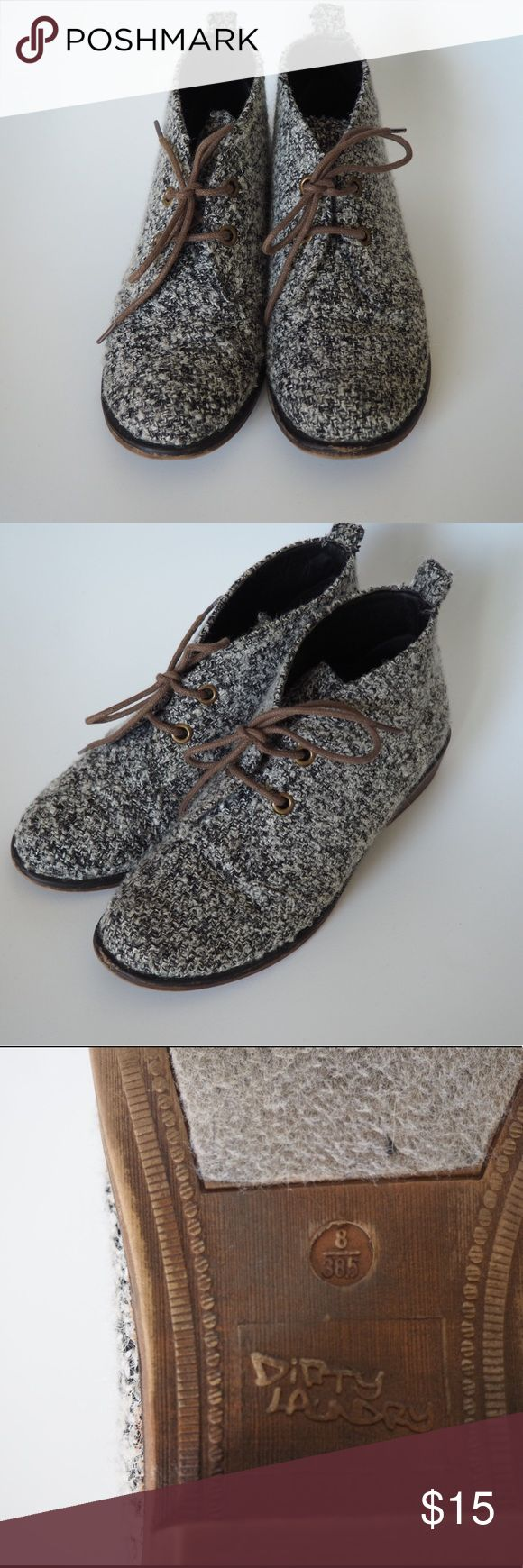 Dirty Laundry Tweed Keegan Booties Black and white booties that are super comfortable! Size 8 dirty laundry Shoes Ankle Boots & Booties