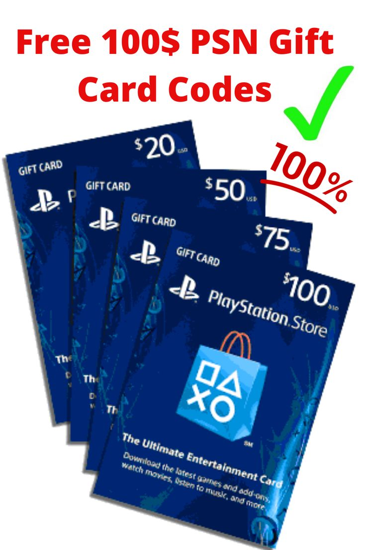 PSN Gift Card Codes in 2020 Ps4 gift card, Store gift