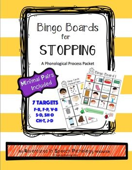 This is a GREAT phonological packet for the process of Stopping as it covers a variety of sounds...