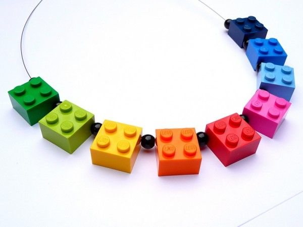 Lego Necklace/ Iconic necklace made out of original Lego bricks for everybody who loves life colourful/ via Creative Spotting