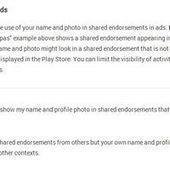 Comment faire pour que votre photo Google+ n'apparaisse pas dans des pubs ?