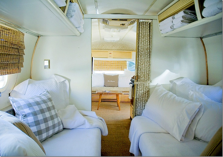 peacock alley airstream (this looks so comfortable and cozy compared to the original!)