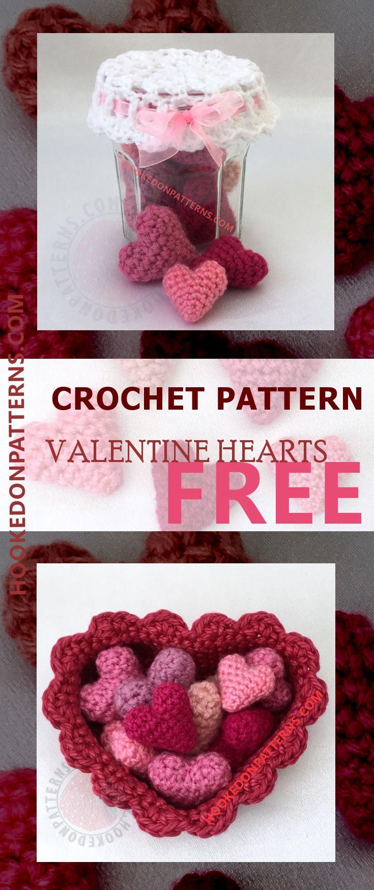 Free Crochet Hearts Pattern Jar Of Hearts Crochet Pinterest