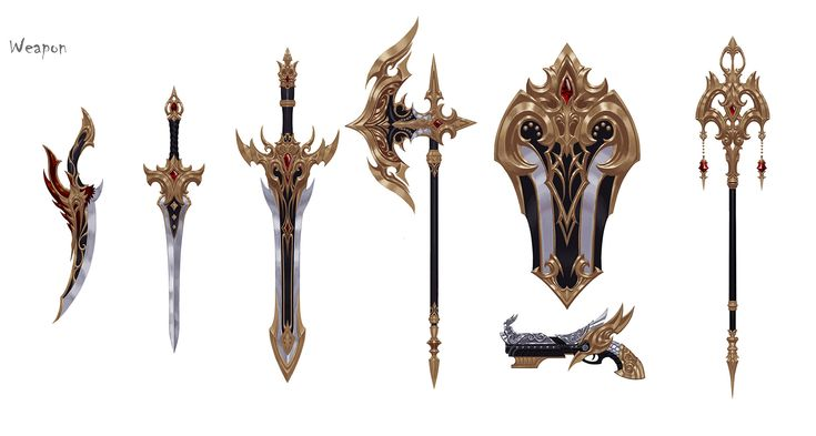 ArtStation - RPG_Game_Weapon, jeong seong hun