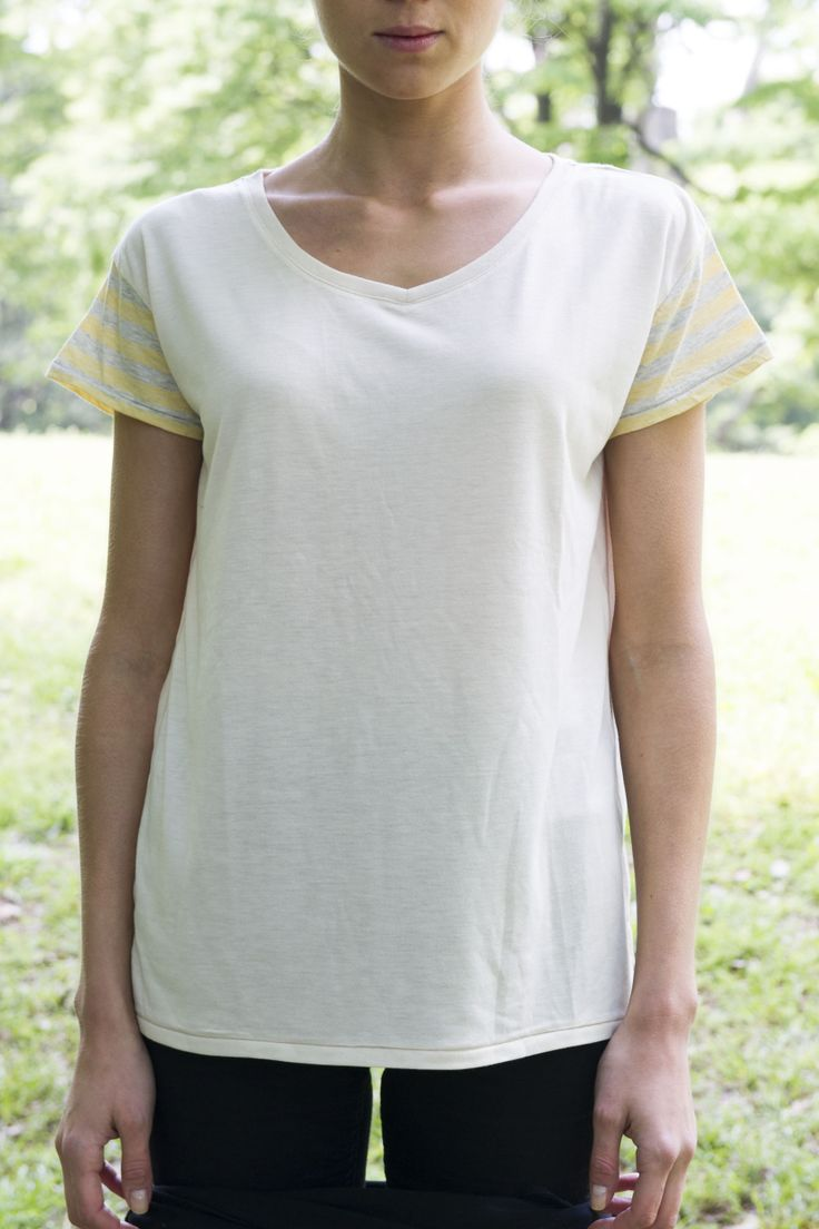 ckkn X roial 14' Summer New Collaboration!! V-neck T-shirt - Yellow http://ckkn.jp/ckkn-x-roial2014-summer-3/