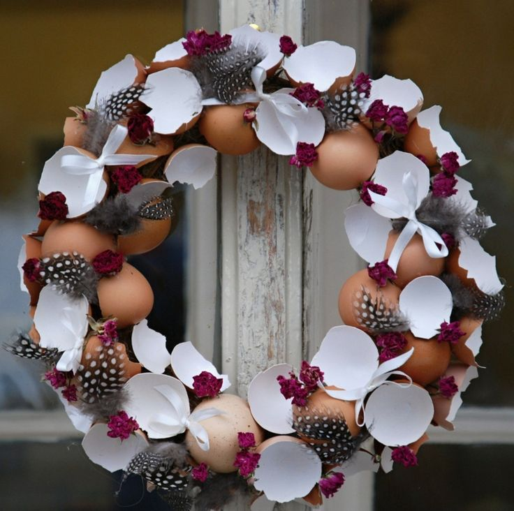 Kranz mit Eierschalen basteln zu Ostern – 20 DIY Ideen für den Frühling