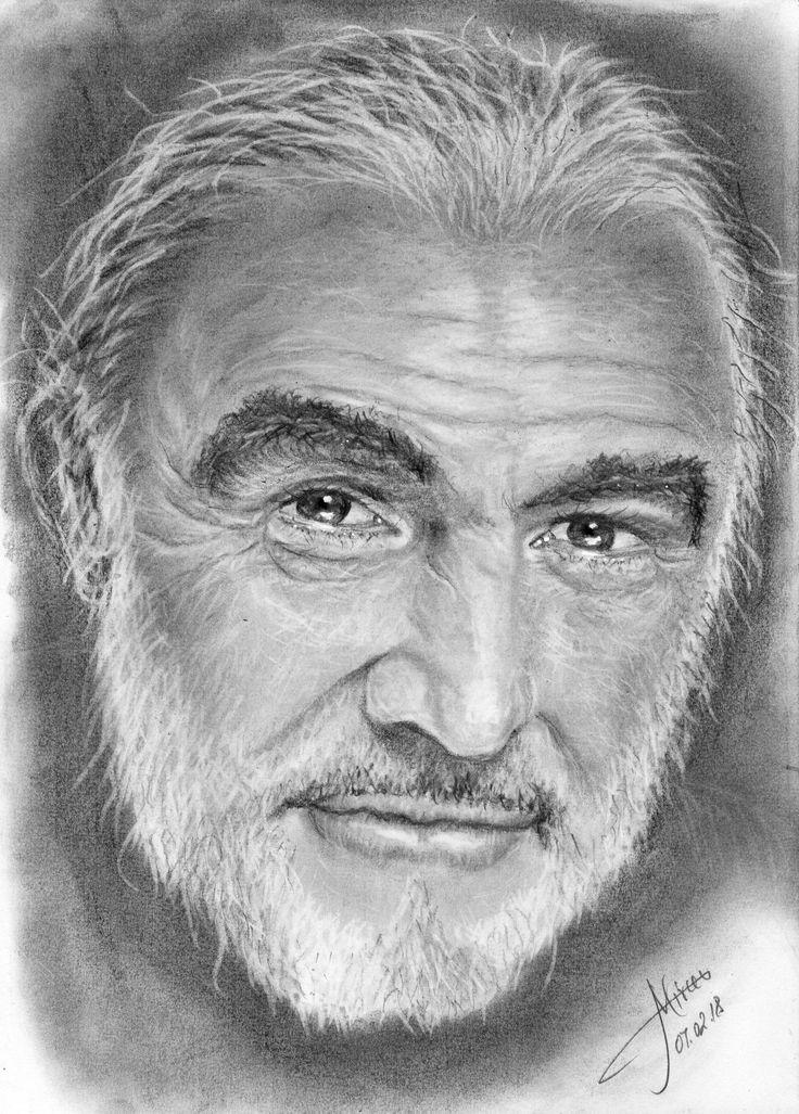 Sean Connery graphite 20x30 by Mircea Craciunel.