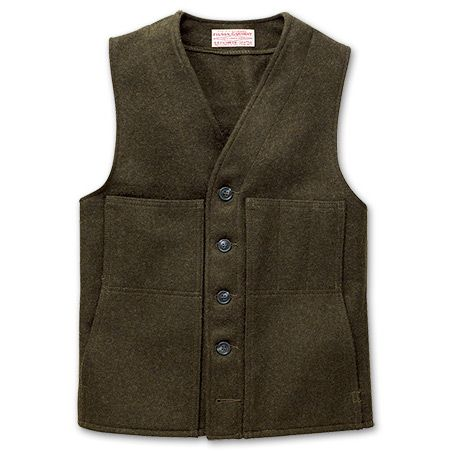 Filson Mackinaw Wool Vest in Forest Green