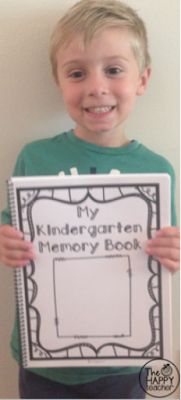 TheHappyTeacher: Kindergarten Memory Book. Printer friendly.  Create a memory book that parents and kiddos will treasure for a lifetime.