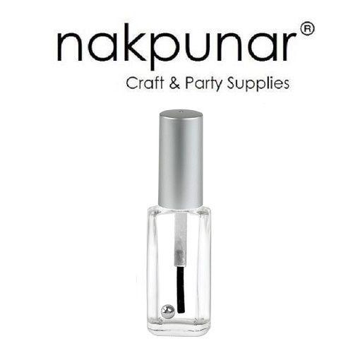 10 ml Empty Nail Polish Bottle with brush, mixing ball - Nakpunar