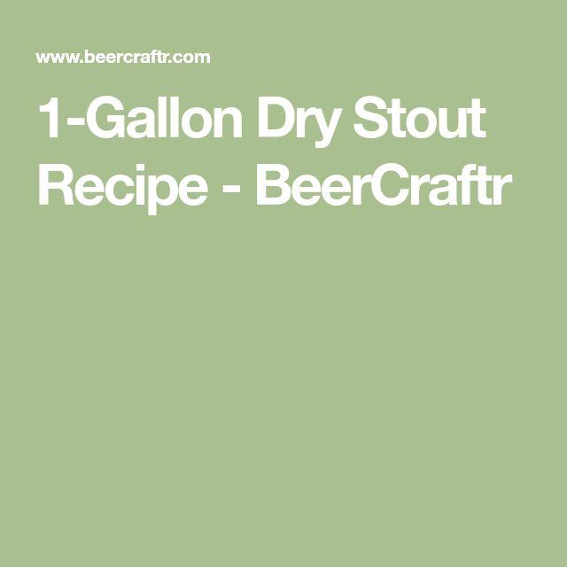 1-Gallon Dry Stout Recipe - BeerCraftr