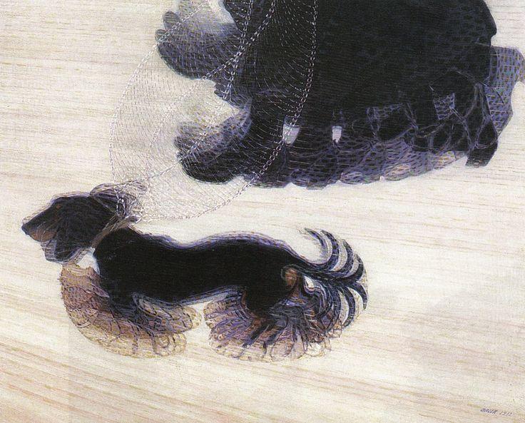 Dynamism of a Dog on a Leash, Giacomo Ball 1912, Albright-Knox Art Gallery, Buffalo, Futurism