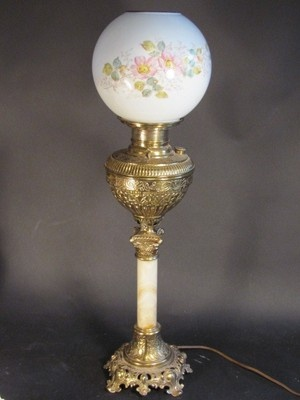 190 best victorian table lamps images on pinterest vintage lamps antique victorian solid brass onyx glass banquet table lamp aloadofball Choice Image