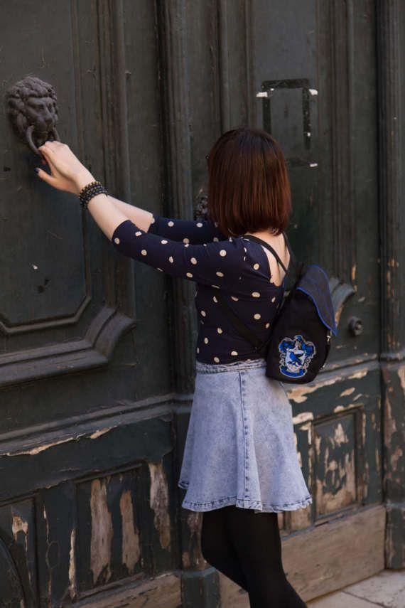 Black Leaf Mini Backpack Harry Potter Inspired by LeaflingBags