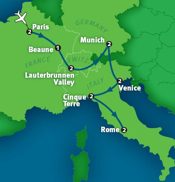 My Way Europe tour http://www.ricksteves.com/tours/europe/my-way-europe