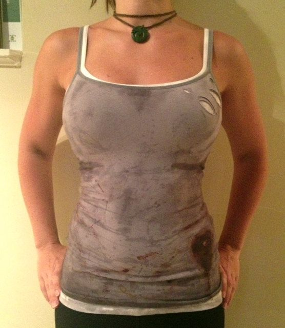 Lara Croft Set of Distressed Tank Tops by AnotherLittleShop, $59.00 pffft.. more like DIY it