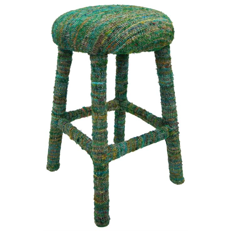 Hand Upholstered In India This Elegant Bar Stool Offers A