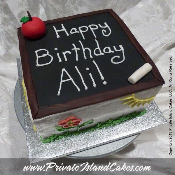 Teacher Themed Birthday Cakes