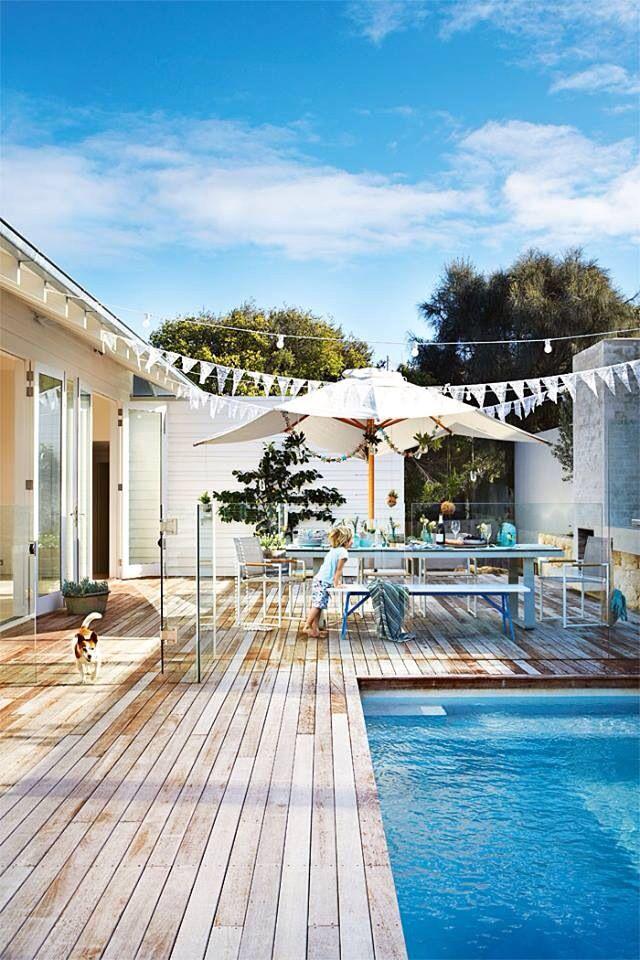 nice rectangle pool setting