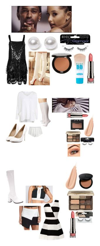 """Ariana Grande ""problem"" inspired outfits"" by haleighdiehljem ❤ liked on Polyvore featuring Anna Sui, Shoes Galore, Nouv-Elle, Ardell, Stila, Maybelline, LORAC, Calypso St. Barth, Crea Concept and Sperry"