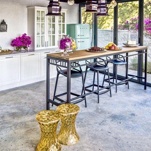 1-MASTERS Stool by Philippe Starck. STONE Table/Stool by Marcel Wanders for Kartell. #dubaidecor #thedubaimall #dubaimall #kartell #downtowndubai #stunning #stone #interior #homedecor #barstool  #galerieslafayettedubai #mastersstool