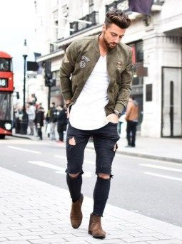 Ripped jeans outfit that make you want to wear every day 19 #menoutfits