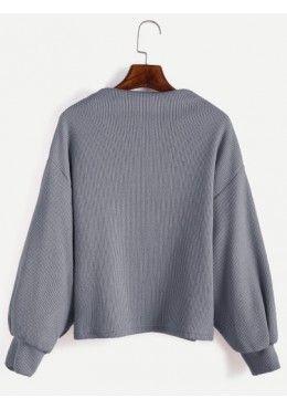 Gerippte Pullover 2017 Grau