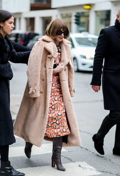Anna Wintour is seen outside Dolce Gabbana during Milan Fashion Week Fall  Winter 2018 19 on February 25 2018 in Milan Italy 41ce99d17a0