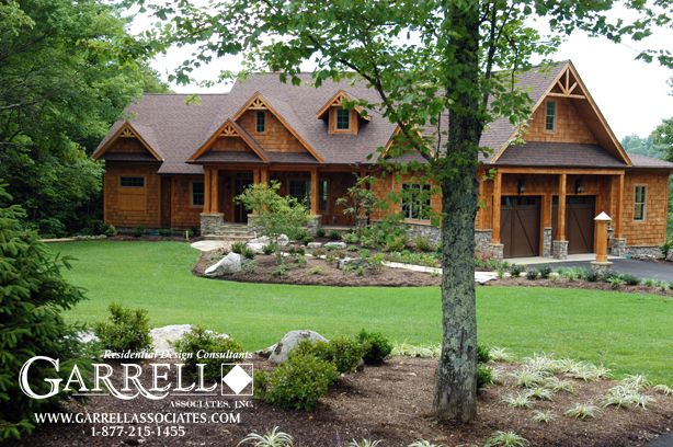 Nantahala cottage rustic mountain house plan for Luxury rustic homes