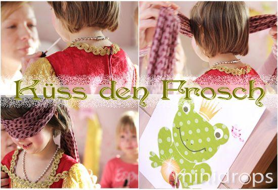 Partyspiel - Prinzessin küss den Frosch / Kiss the Frog - Princess Party Game