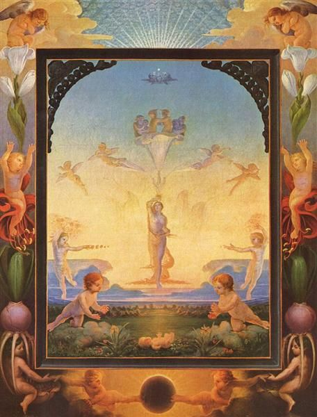 1808 The Morning - Philipp Otto Runge. Simbolismo