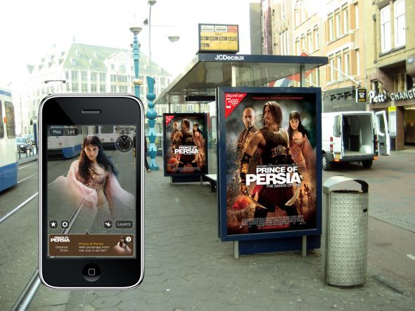 Augmented reality outdoor campaign for Prince of Persia