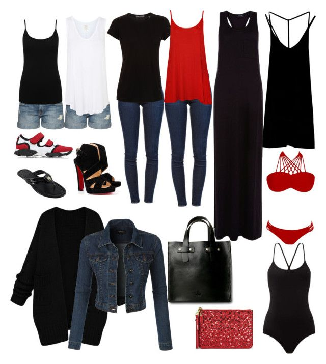 """""""California road trip"""" by lchrumka on Polyvore featuring Frame Denim, Vince, RVCA, WearAll, Marni, Current/Elliott, Topshop, Christian Louboutin, Tory Burch and Coach"""