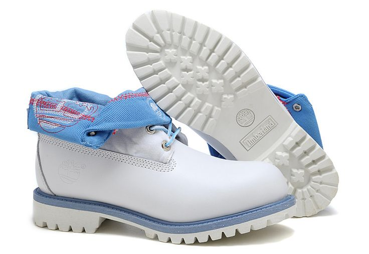 Timberland Authentic Men's Boots White Blue,Fashion Winter Timberland Men Shoes,timberland roll top boots uk