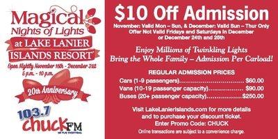 Lake Lanier Lights | Magical Night Lights of Christmas at ...