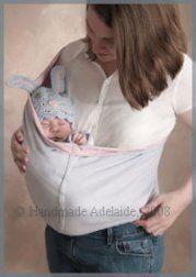 http://www.handmade-adelaide-baby.com/free-baby-sling-pattern.html