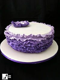 Cake Ninja, Cake Decorating Brisbane | CELEBRATION CAKES  www.cakeninja.com.au ombre  ruflfe cake in purple fantasy flower