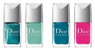 Dior laquer - turquise, blue, pink