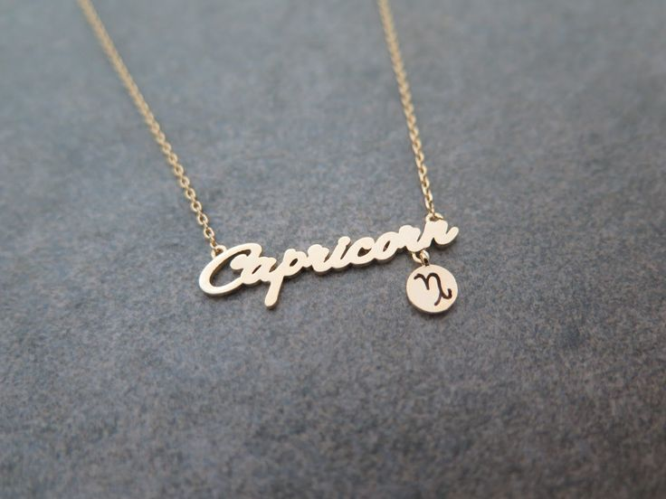 Mothers day gift ,Zodiac Constellation Necklace,Zodiac-sign, Capricorn / the Goat (Dec 22 - Jan 19) necklace with giftbox by MinimalBijoux on Etsy