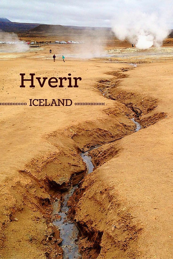 Hverir is a geothermal area in North Iceland - when you walk there it feels like you are on another planet! Big splits, fumaroles, mud pools and all of it in a bare landscape - Click to open the guide with many photos and detailed information to plan your