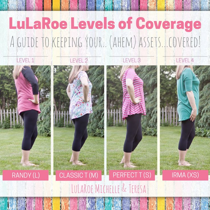 LuLaRoe Levels of Coverage! A Guide to keeping your.. ahem.. assets.. covered…