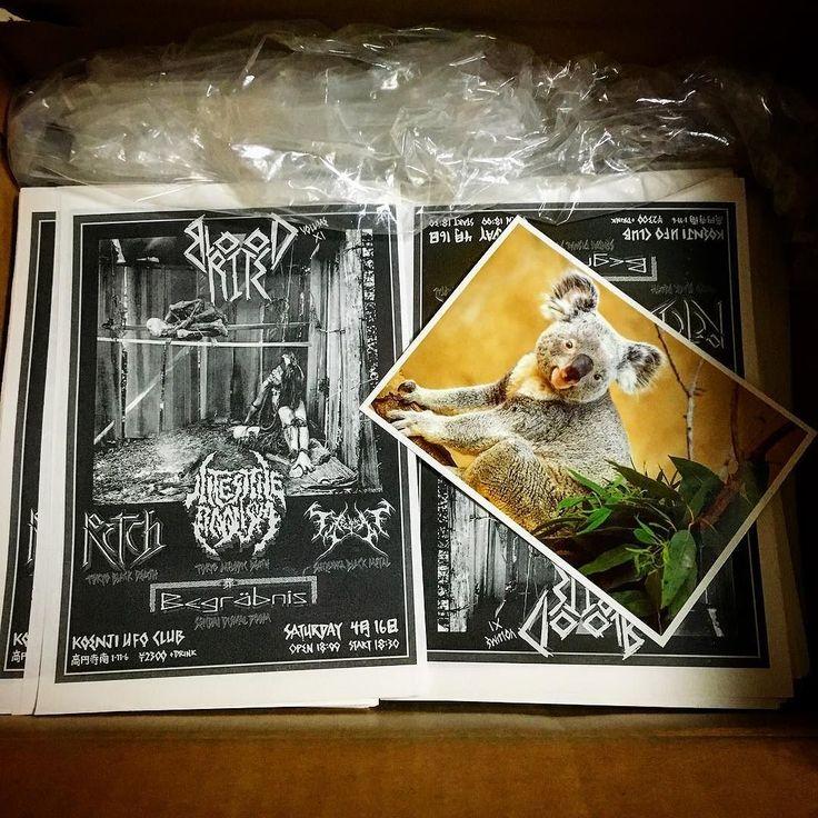 Just arrived: 1000 flyers for Blood Rite Vol. 11. Next month @ Koenji's UFO Club w/ Intestine Baalism Begräbnis Retch and Fra Hedensk Tid. @thomskuld #flyers #design #deathmetal  #melodicdeathmetal #blackmetal #doom #DoomMetal #FuneralDoom #japan #tokyo#nakano #koenji #rocknroll #concert #concerts #concertseries #livemusic
