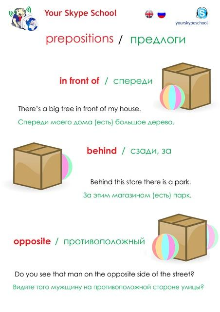 #prepositions, #useful, #in front of, #behind, #opposite #how to say, #russian #english, #полезные, #предлоги, #английский, Your Skype School study material