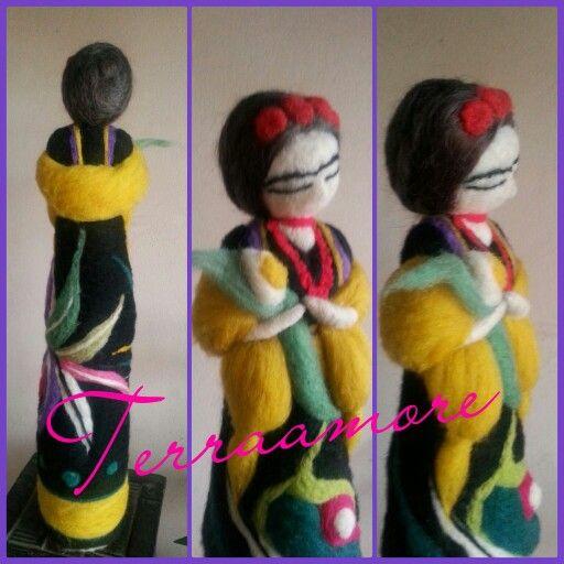 Muñecas de vellón frida kalho