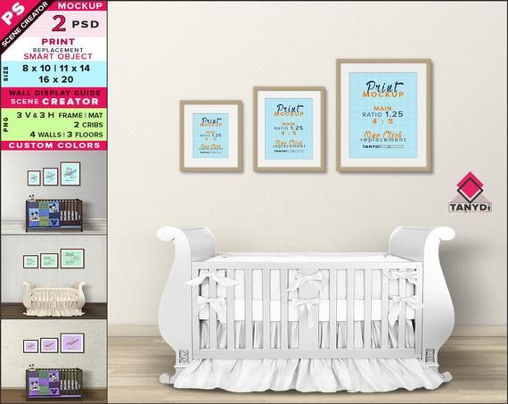 Wall Display Guide 8x10 11x14 16x20 Scene Creator Photoshop Print Mockup Vertical Horizontal Frames Nursery Interior Wdg 78 3f Wall Display Frame Matting Custom Wall