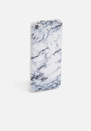 Hey Casey Marble Greek - IPhone & Samsung Cover Black & White