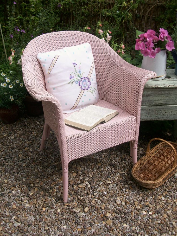 Vintage painted Lloyd Loom chair from Lavender House Vintage
