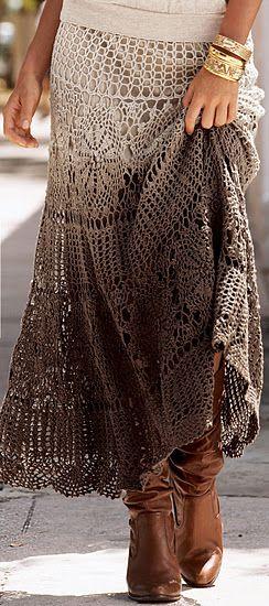 Crochet maxi skirt