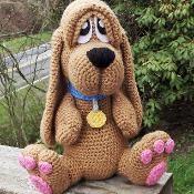 Basset Hound Puppy Amigurumi Crochet